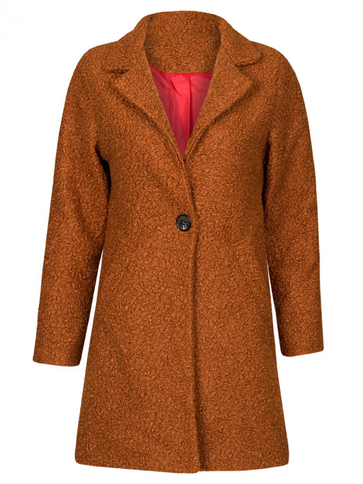 Teddy Coat Brique