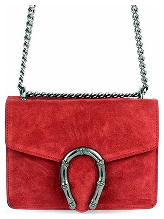Leather Bag Jackie Red