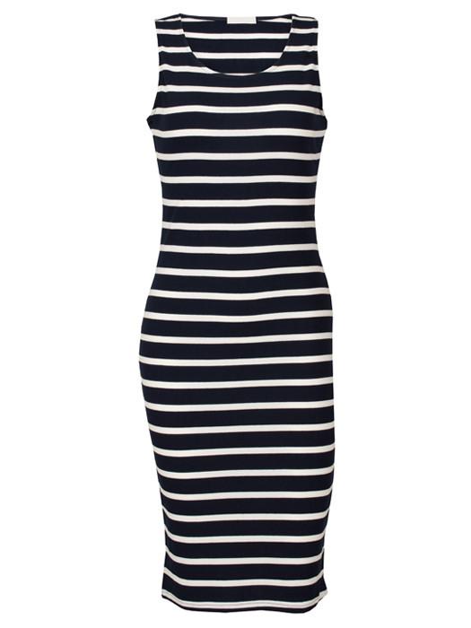 Dress Striped Black