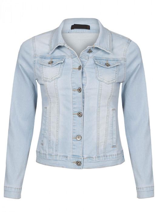 Jeans Jacket Stretch L. Blauw