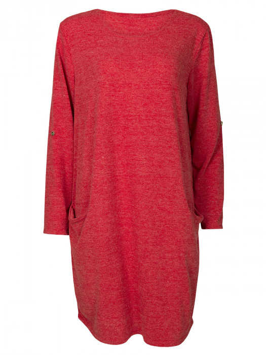 Sweater Dress Red