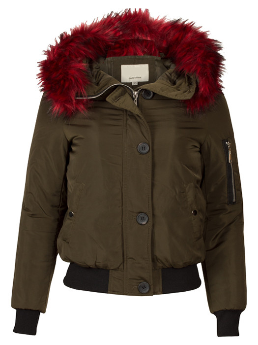 Bomberjacket Fake Fur Army