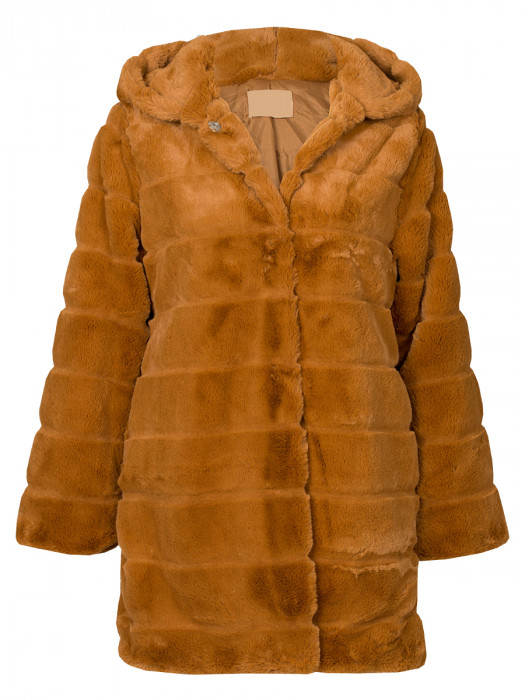 Fake Fur Coat Brown