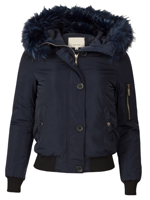 Bomberjacket Fake Fur Blue