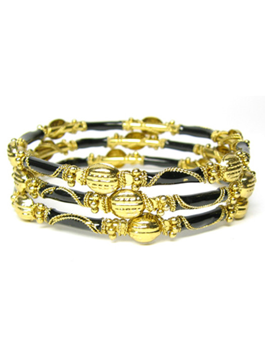Armbanden goud/zwart