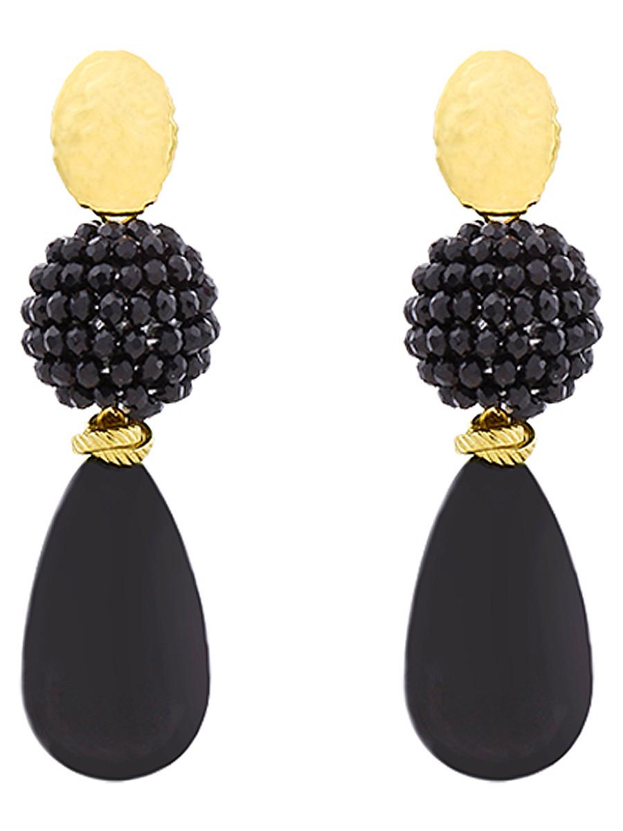 Oorbellen Luxury Pearldrop Zwart