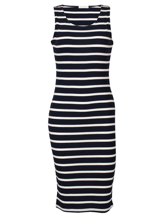 Dress Striped Black