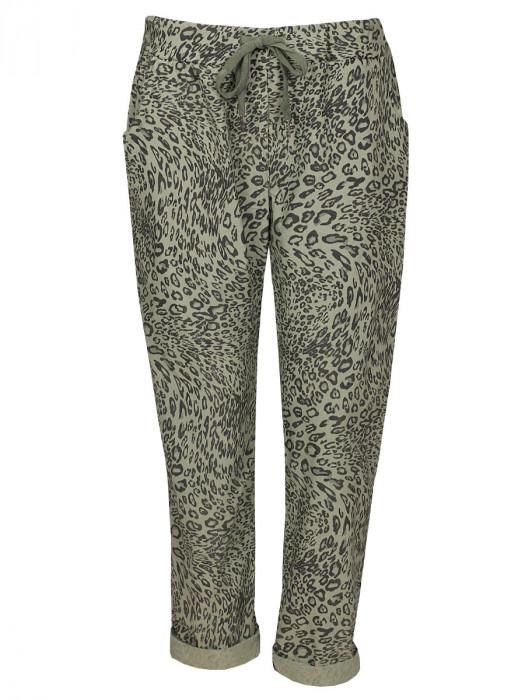 Broek Leopard Groen