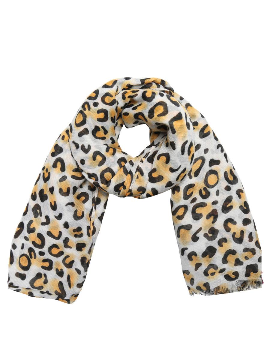 Sjaal Wild Leopard Geel