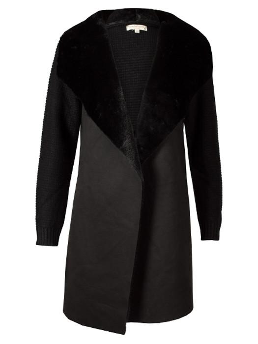 Vest Knitted & Fur Black