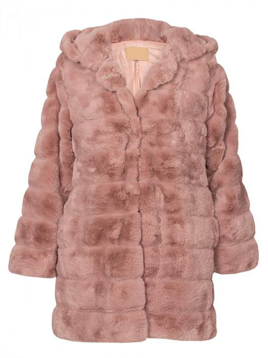 Fake Fur Coat Old Pink