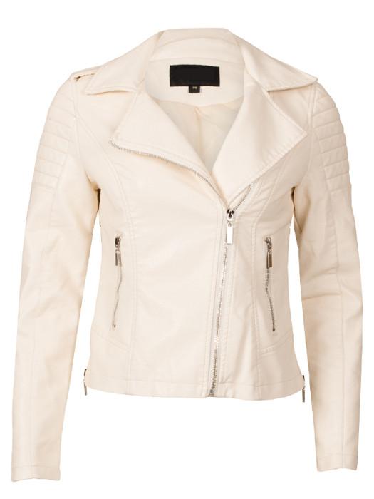 Van Fashionize Biker Jacket Cream Prijsvergelijk nu!