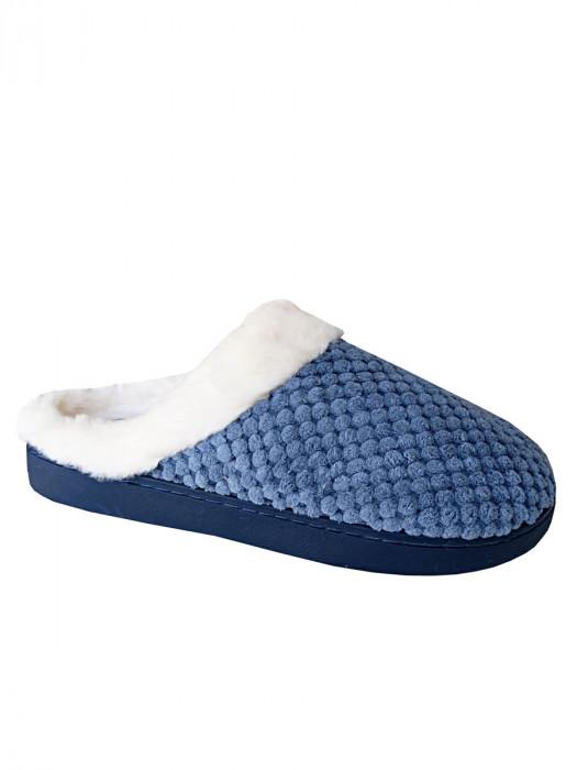 Pantoffels Bont Blauw