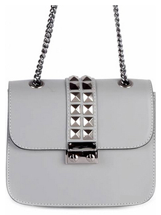 Leather Bag Studs Gray
