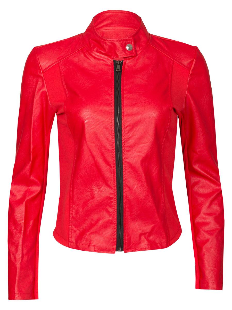 Van Fashionize Jasje Leather Look Rood Prijsvergelijk nu!
