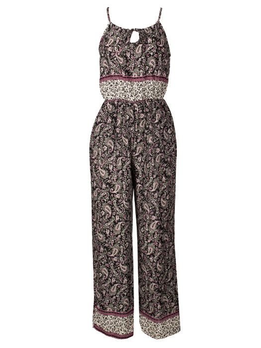 Jumpsuit Paisley Black