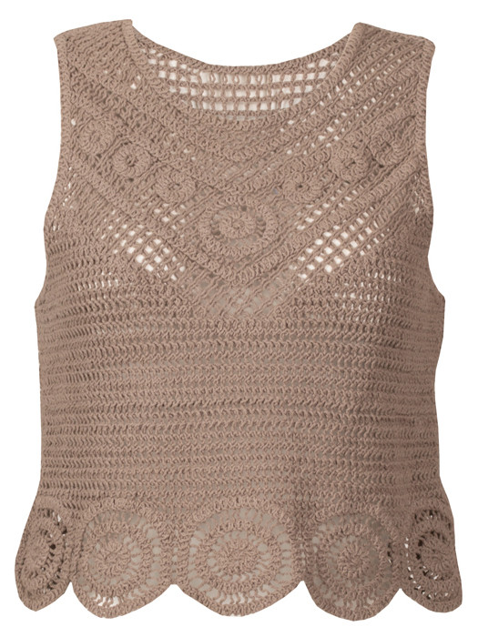 Top Chrochet Taupe