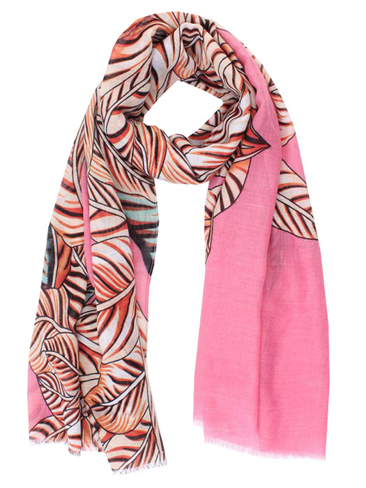 Sjaal Leafs Pink