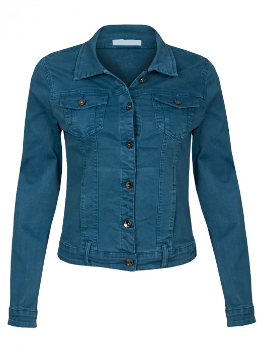 Jeans Jacket Stretch Petrol