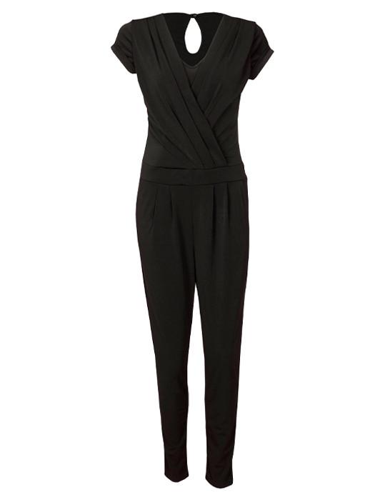 Image of Jumpsuit Overslag Zwart