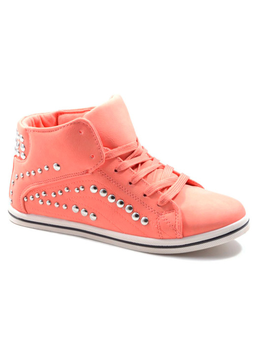 Van Fashionize Sneakers Studded Coral Prijsvergelijk nu!
