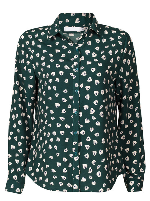 Blouse Green Leafs