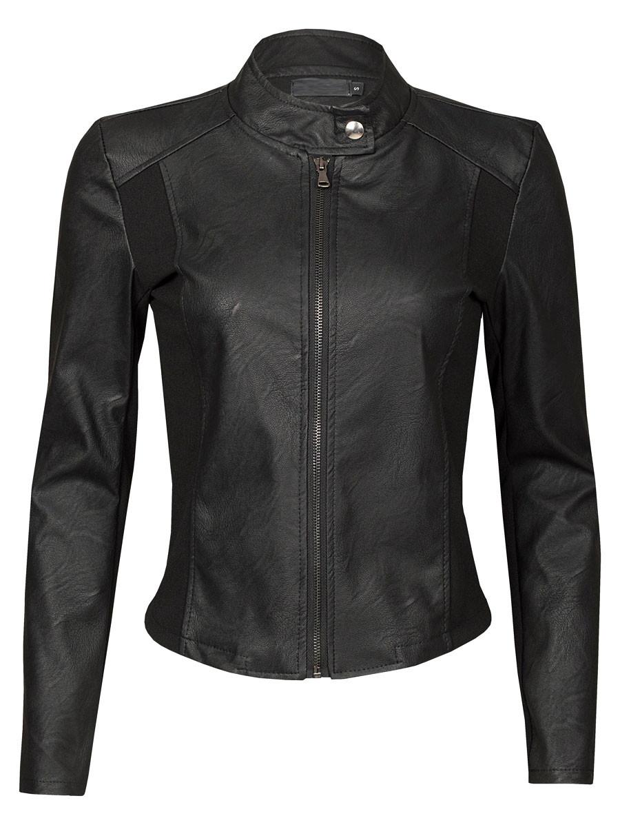 Van Fashionize Jasje Leather Look Zwart Prijsvergelijk nu!