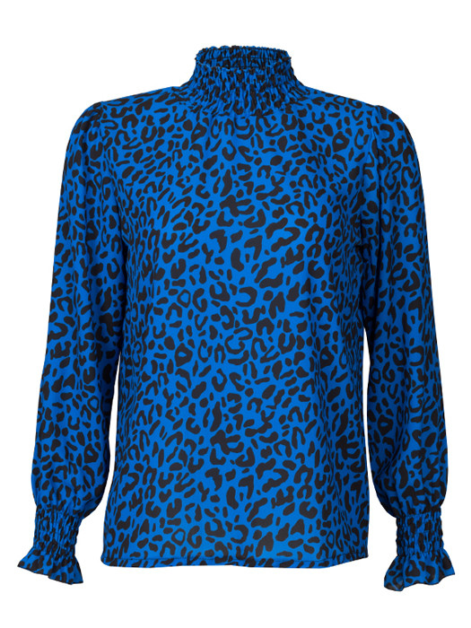 Top Leopard Blue