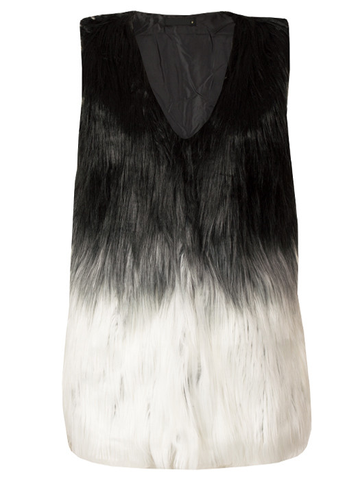 Image of Gilet Fluffy 3-Tone