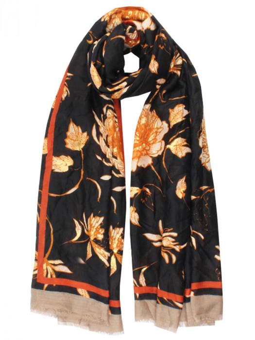 Sjaal Blossom Zwart
