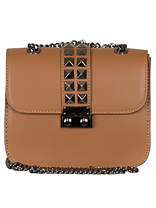 Leather Bag Studs Camel