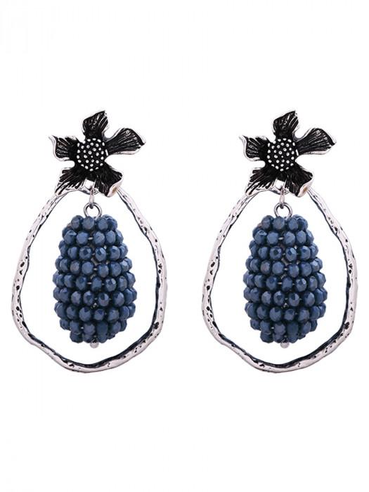 Oorbellen Glam Grapes Blauw