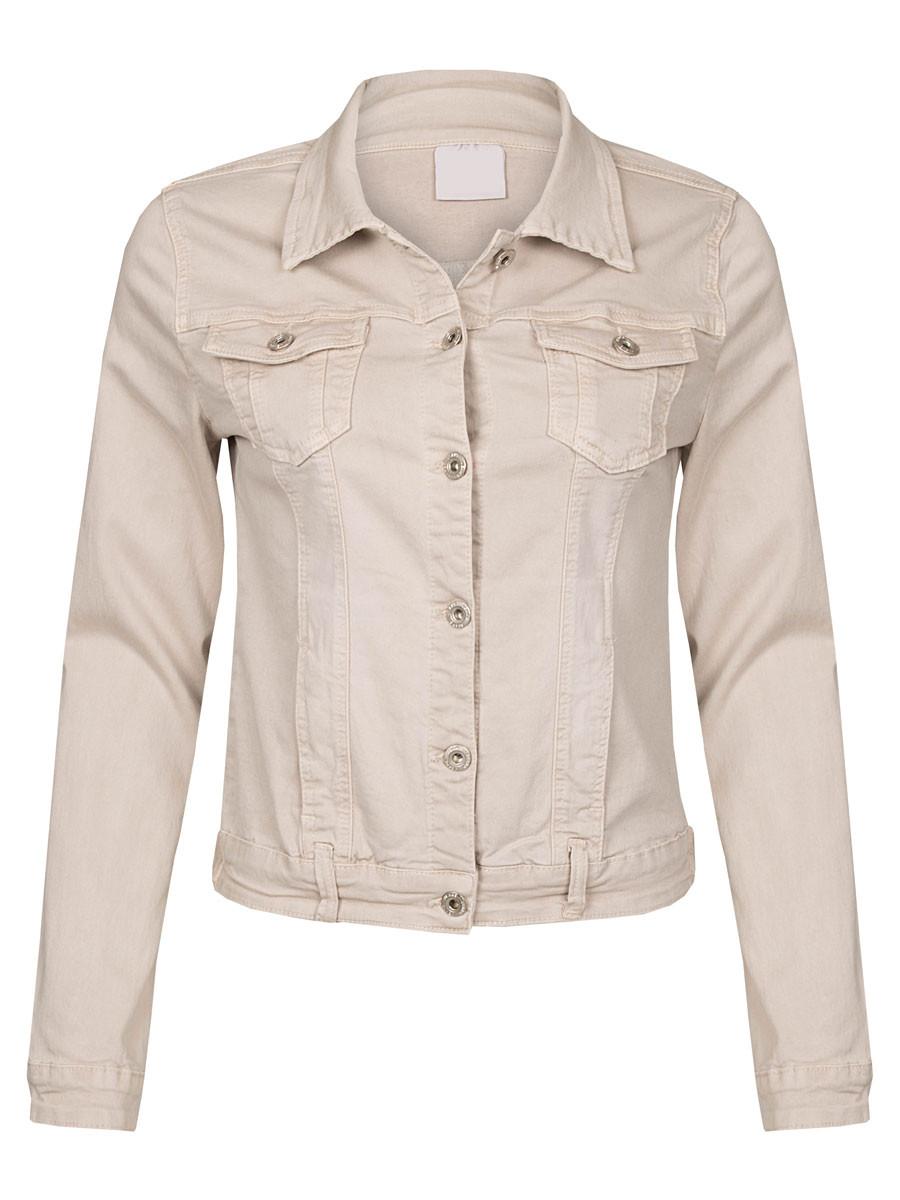 Jeans Jacket Stretch Beige