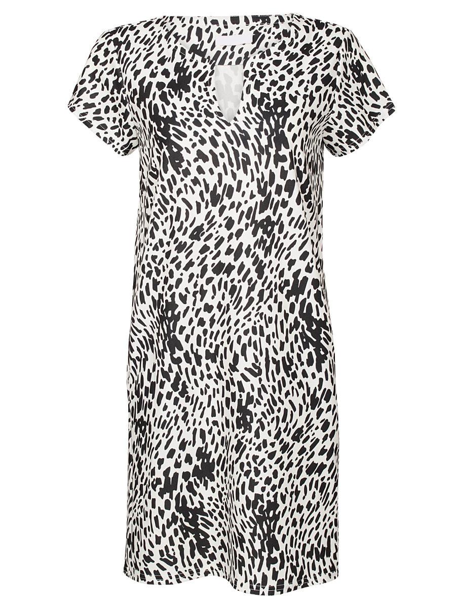 Jurk Chelsey Leopard Wit