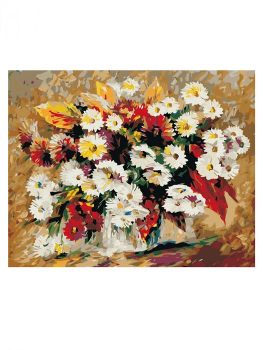Bloemen Wit 50x40 Schilderen op Nummer
