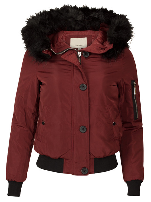 Bomberjacket Fake Fur Red