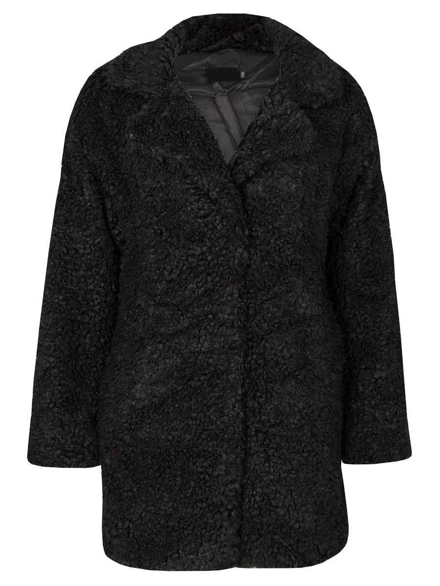Image of Teddy Coat Black