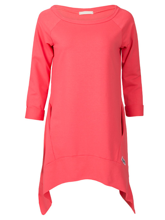 Sweater Dress Love Coral