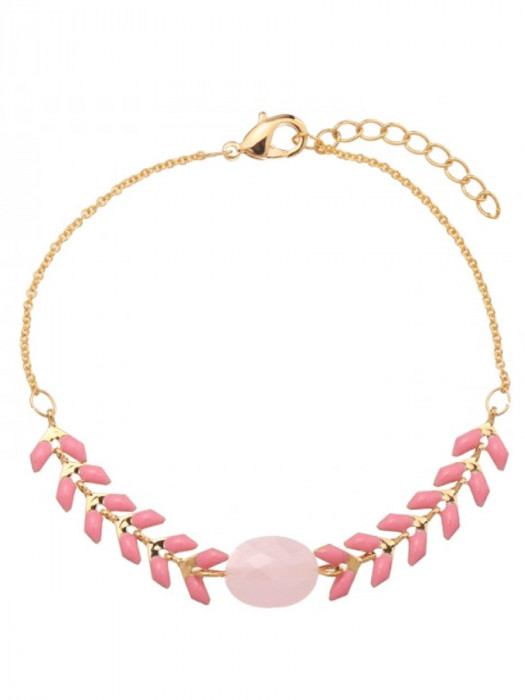Armband Gold Plated Roze
