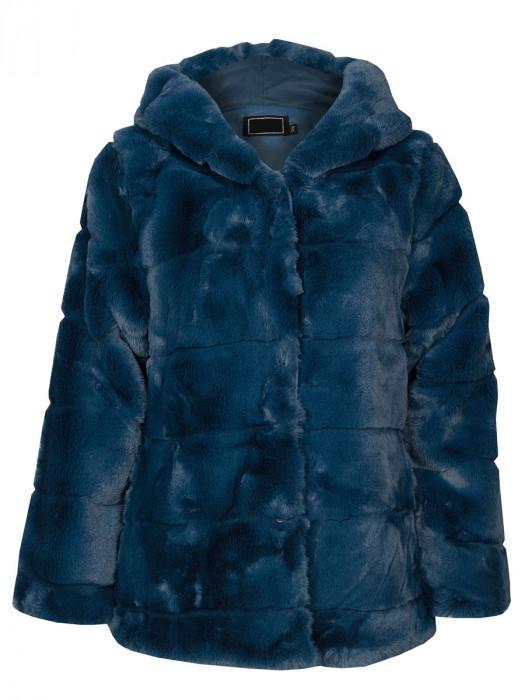 Coat Faux Fur Blauw