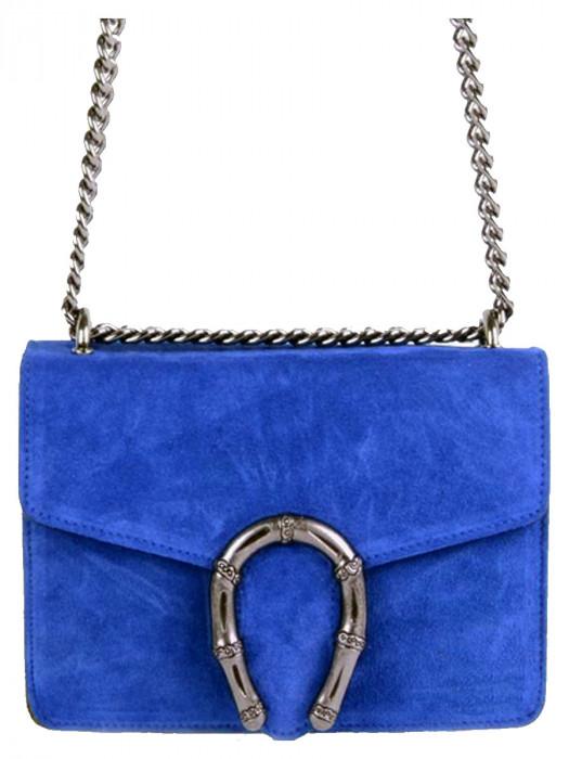 Leather Bag Jackie Blue