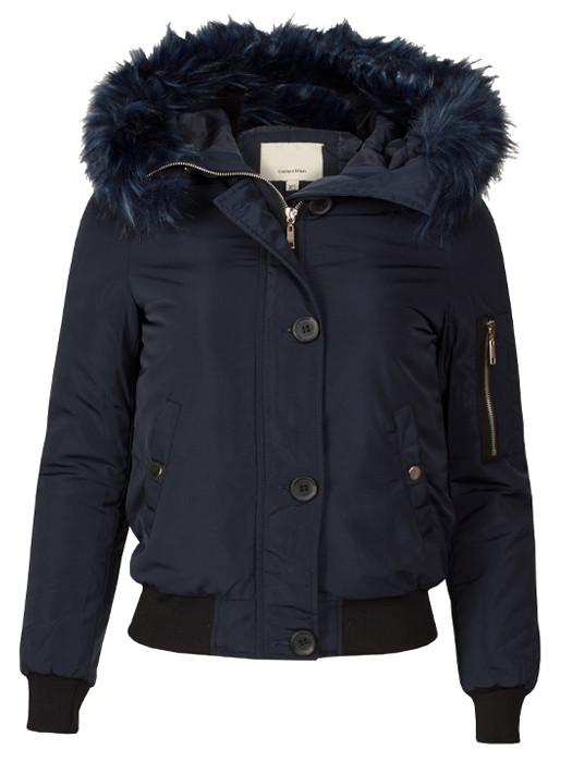 Bomberjacket Fake Fur Blue