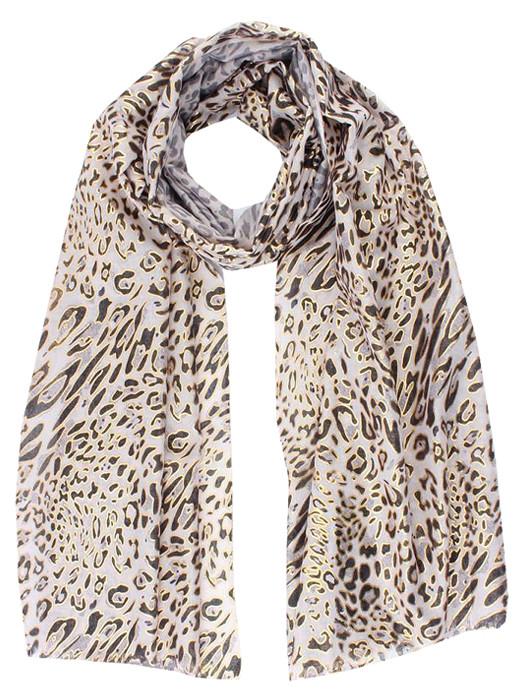 Sjaal Leopard Gold