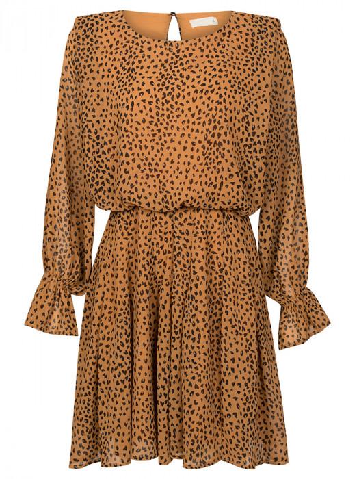 Jurk Cheetah Camel