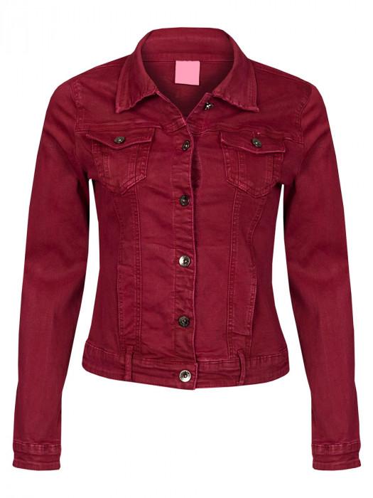 Jeans Jacket Stretch Bordeaux