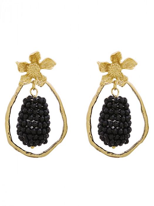 Oorbellen Glam Grapes Zwart