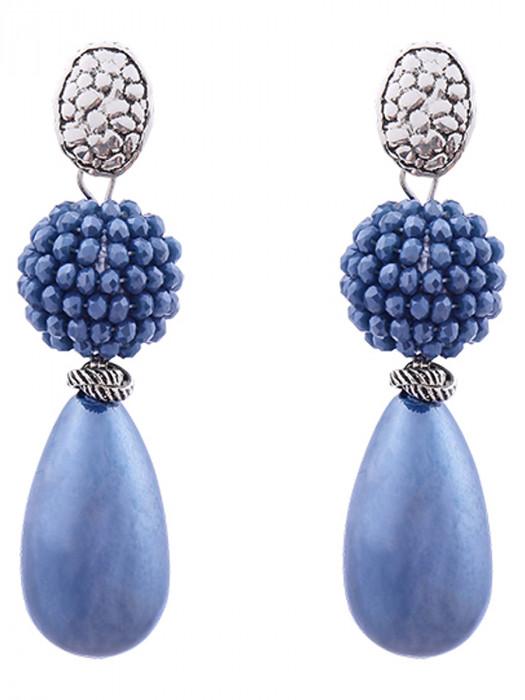 Oorbellen Luxury Pearldrop Blauw