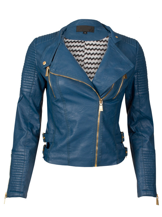 Van Fashionize Biker Jacket Blue Prijsvergelijk nu!