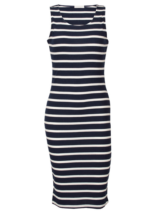 Dress Striped Navy