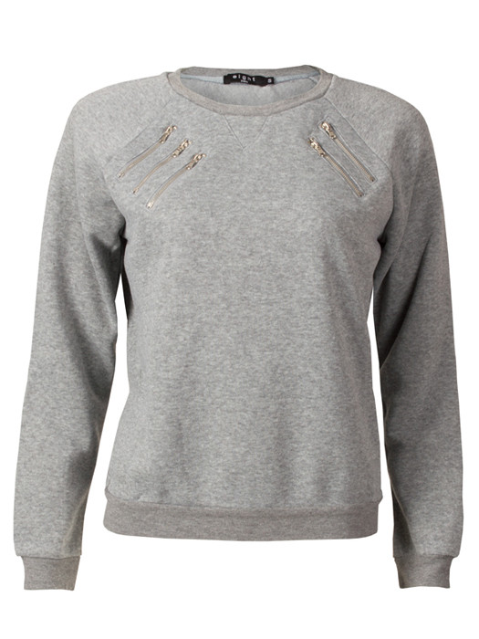 Sweater Zippers Gray